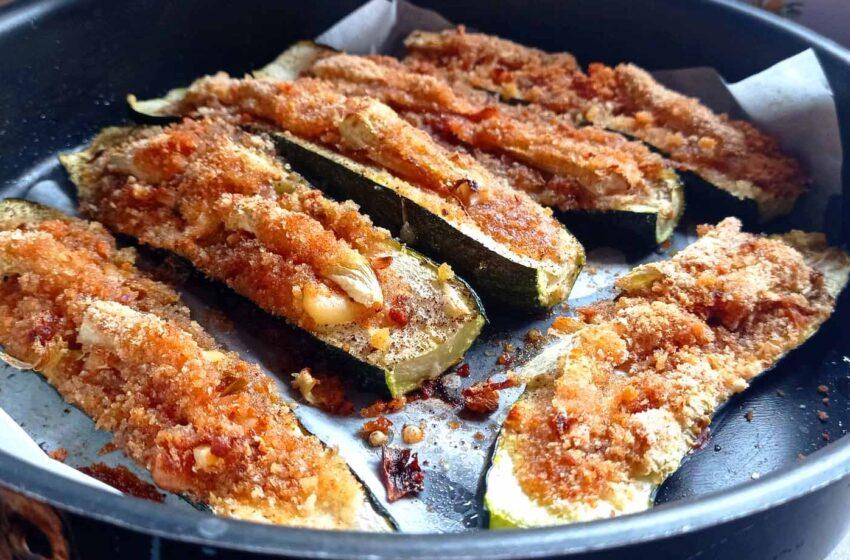 Barchette di zucchine ripiene